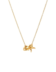 Bill Skinner Cat Pendant Gold