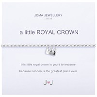 Joma A Little Royal Crown Charm Bracelet Silver