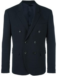 Tonello Double Breasted Peacoat Blue