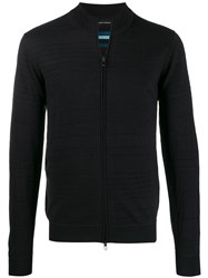 Emporio Armani Slim Fit Cardigan Blue