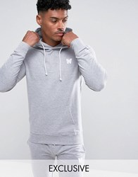 Good For Nothing Hoodie In Grey With Chest Logo Grey