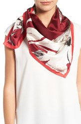 Vince Camuto Women's Floating Florals Silk Square Scarf