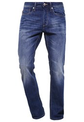 Jack And Jones Clark Straight Leg Jeans Blue Denim