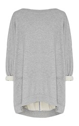 Maticevski League Oversized Sweater Light Grey
