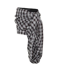 Y Project Plaid Shorts Grey