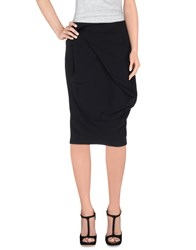 Marithe' F. Girbaud Marithe Francois Girbaud Skirts Knee Length Skirts Women Black