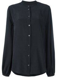 Equipment Mandarin Collar Shirt Black
