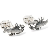 Deakin And Francis Lobster Oxidised Sterling Silver Cufflinks Silver