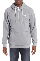 Under Armour Men's Rival Quarter Zip Hoodie Graphite