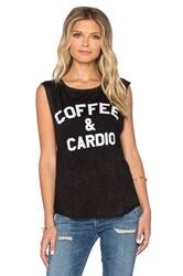 Tyler Jacobs Coffee And Cardio Cut Off Tank Black And White