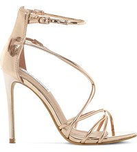 Steve Madden Satire Metallic Strappy Sandals Rose Gold Synthetic