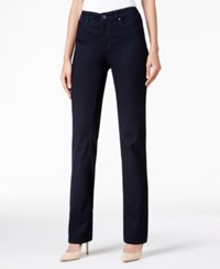 Charter Club Lexington Saturated Black Wash Straight Leg Jeans Only At Macy's Rinse Wash