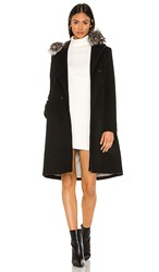 Soia And Kyo Pauline Coat With Fox Fur Collar In Black.