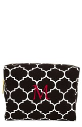 Cathy's Concepts Monogram Cosmetics Case Black M