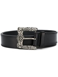 Saint Laurent Ornate Buckle Belt Black