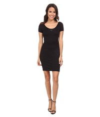 G Star Us Slim Isyd R T Long Short Sleeve Black Women's Dress