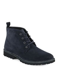 Kenneth Cole Luxury Suede Chukka Boots Navy