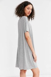 Silence And Noise Boxy Tee Dress Light Grey