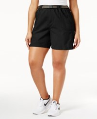 Columbia Plus Size Sandy River Belted Cargo Shorts Charcoal