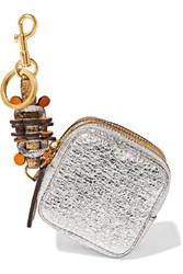 Anya Hindmarch Circulus Metallic Textured Leather Coin Purse Gold