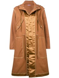 Undercover Camel Hooded Raincoat Brown
