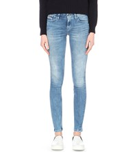 Calvin Klein Faded Skinny Mid Rise Jeans Blue River