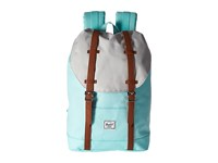 Herschel Retreat Mid Volume Blue Tint Glacier Grey Tan Synthetic Leather Backpack Bags