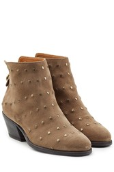 Fiorentini And Baker Studded Suede Ankle Boots Brown