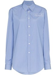 Martine Rose Stripe Shirt Blue