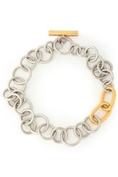 Alexander Wang Silver And Gold Tone Necklace Silver