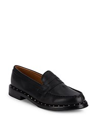 Ash Xenos Studded Leather Loafers Black