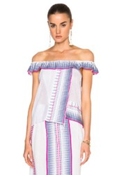 Lemlem Wubit Embroidered Top In White Purple