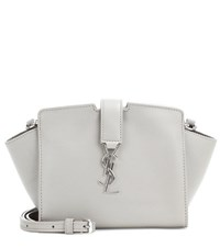 Saint Laurent Toy Cabas Leather Shoulder Bag Grey