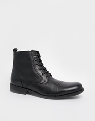 Selected Homme Leather Boots Black