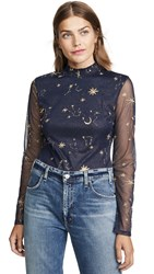 Endless Rose Star Bodysuit Navy