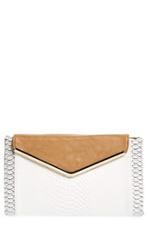 Natasha Couture Natasha Embossed Faux Leather Envelope Clutch