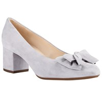 Peter Kaiser Christiane Bow Block Heeled Court Shoes Ice Blue