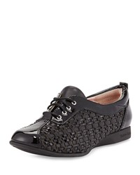 Taryn Rose Trudee Woven Lace Up Sneaker Black