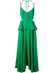 Prabal Gurung Buttoned Peplum Dress Green