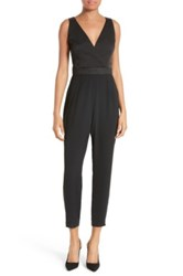 Ted Baker Ossia Sparkle Trim Strappy Jumpsuit Black