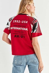 Urban Outfitters International Racer Tee Red