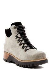 Manas Design Suede Lace Up Boot Gray