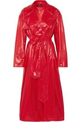 Ellery Shell Trench Coat Red