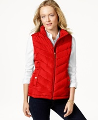 Charter Club Quilted Chevron Vest Only At Macy's New Red Amore