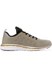 Athletic Propulsion Labs Techloom Pro Metallic Mesh Sneakers Gold