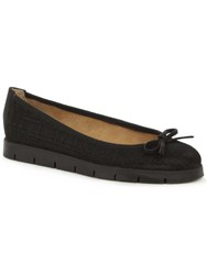 Daniel Venice Beach Sporty Ballet Pumps Black Glitter
