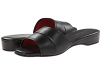 Daniel Green Dormie Black Leather Women's Slippers
