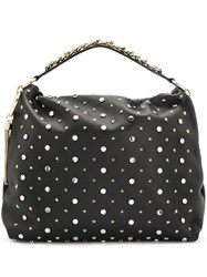 Jimmy Choo Callie Slouchy Tote Black