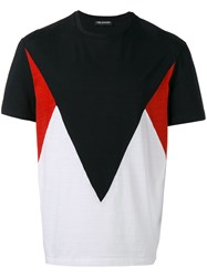 Neil Barrett Color Block T Shirt Black