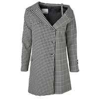 Each X Other Unstructured Blazer Dress Black And White